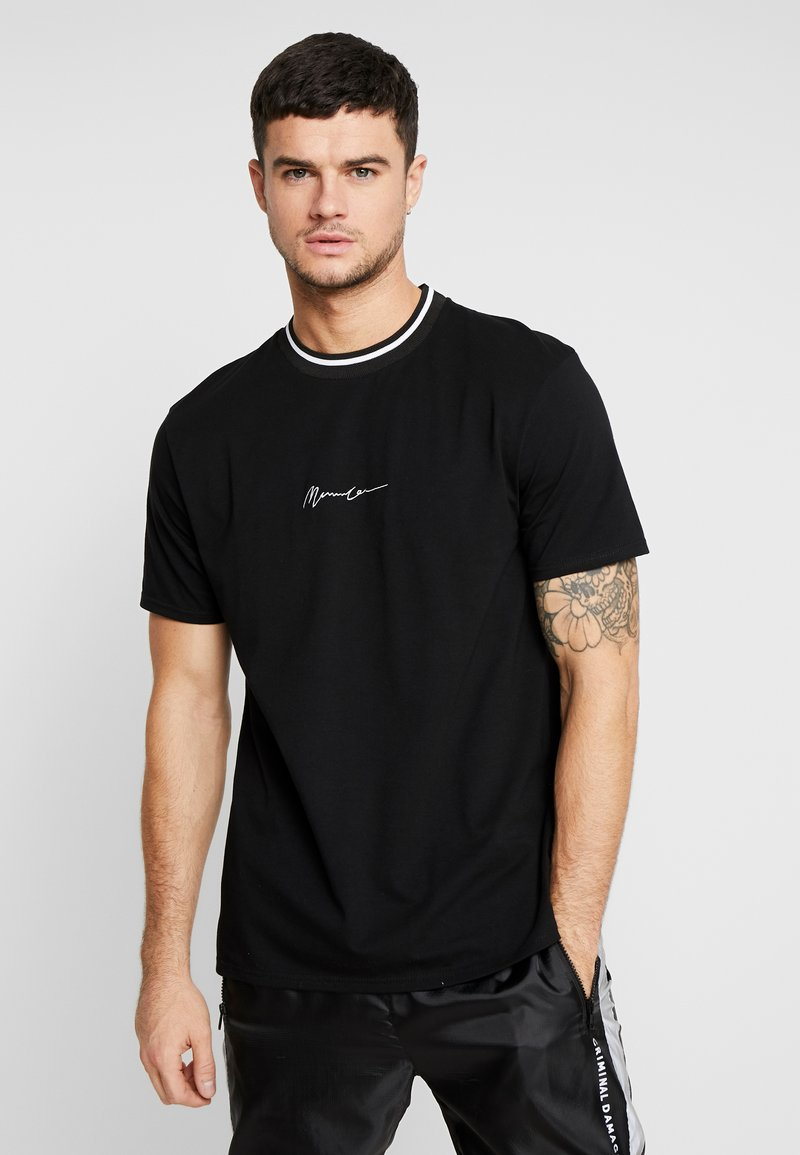 Mennace - RINGER  - T-shirt basic - black