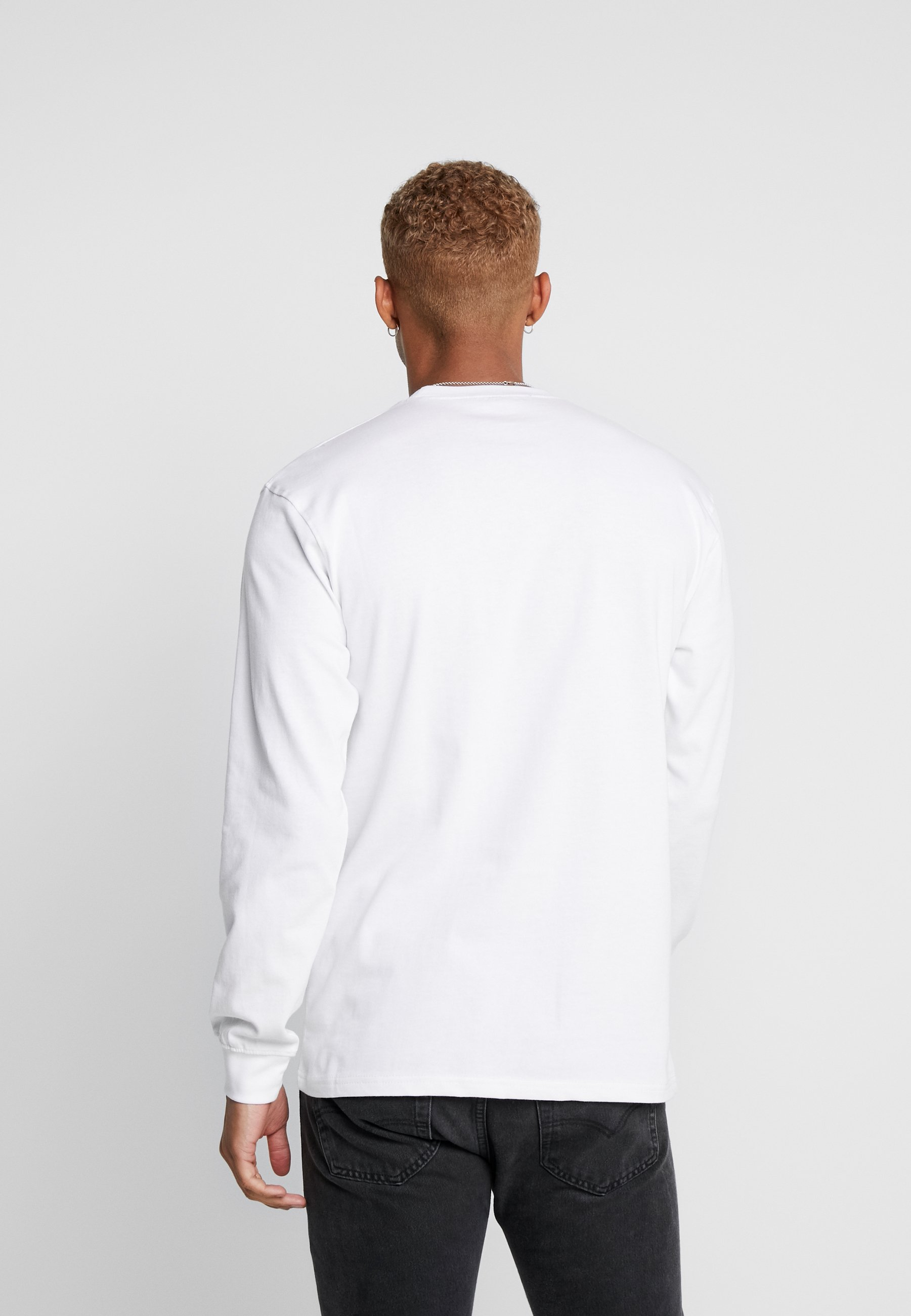 Mennace TRIPLE LONG SLEEEVE - Bluzka z długim rękawem - white