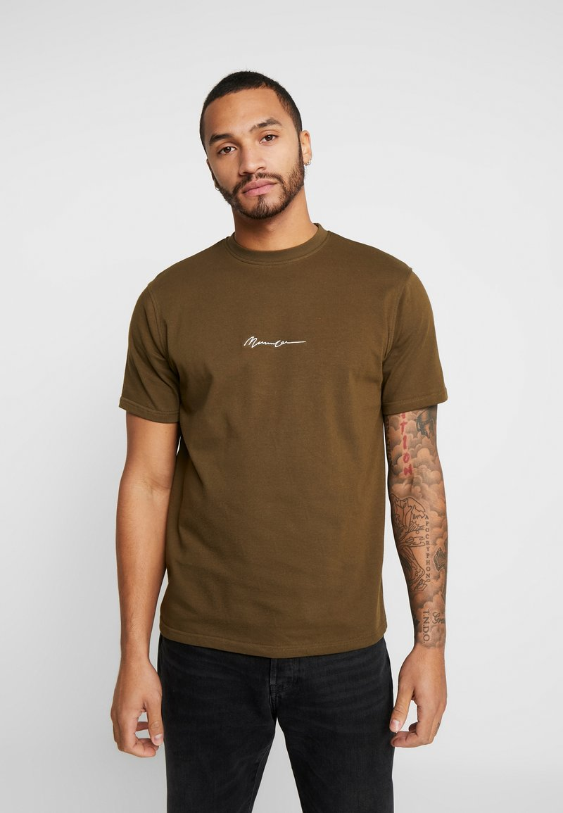 Mennace - ESSENTIAL SIGNATURE  - T-shirt - bas - khaki