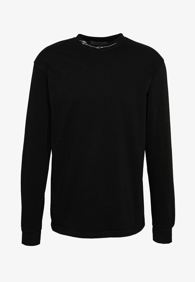 ESSENTIAL SIGNATURE HIGH NECK - Pitkähihainen paita - black