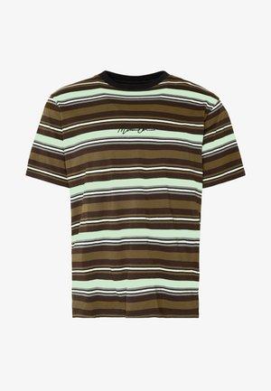 SKATE MULTI STRIPE - T-shirt con stampa - khaki