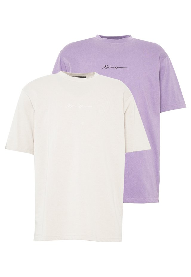 ESSENTIAL SIGNATURE TEE 2 PACK - T-shirt basic - nude/purple
