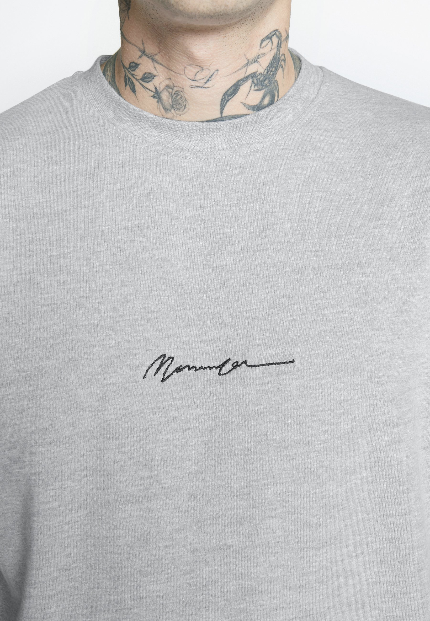 Mennace ESSENTIAL SIGNATURE TEE 2 PACK - T-shirt basic - teal/grey marl
