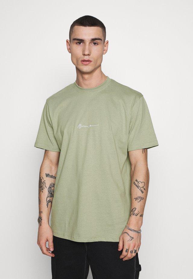 ESSENTIAL SIGNATURE  - T-shirt basic - sage