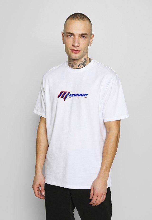 NEON SLATED TEE - T-shirt con stampa - light grey