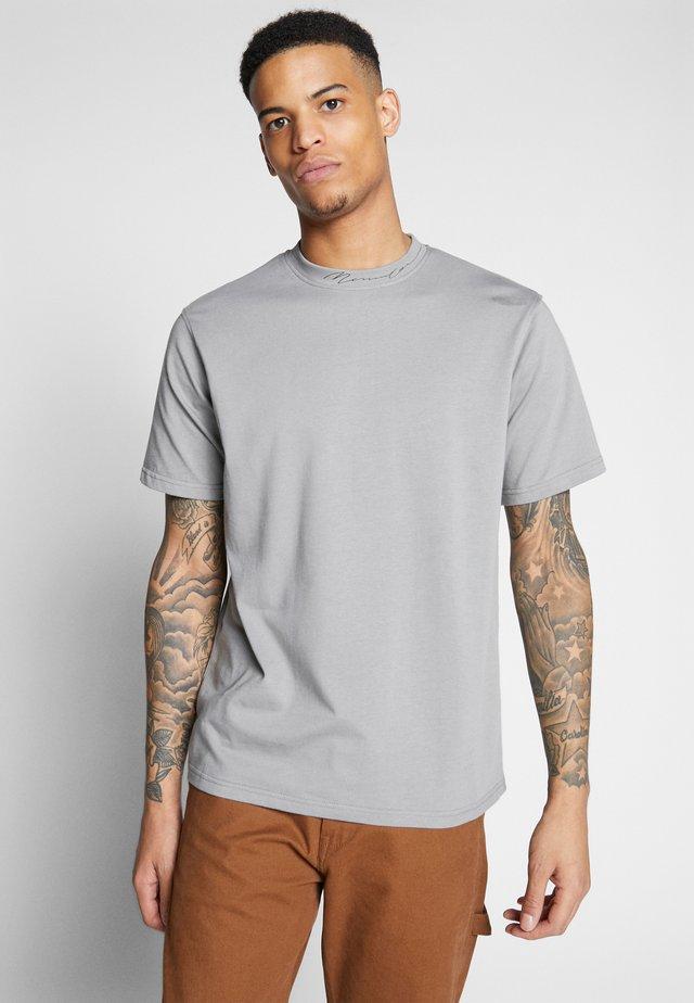 ESSENTIAL SIGNATURE HIGH NECK - T-shirt basic - slate grey