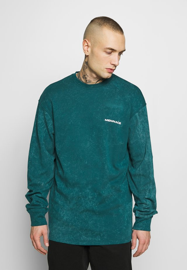 ACID WASH BACK - Topper langermet - teal