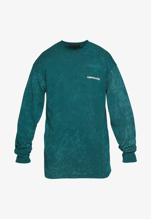 ACID WASH BACK - T-shirt à manches longues - teal