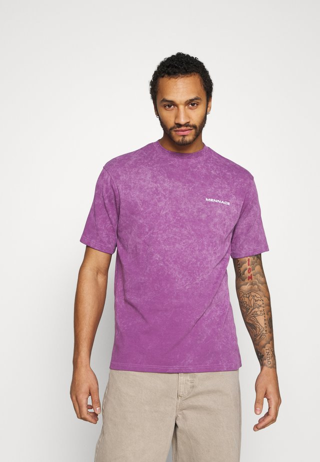 ACID WASH BACK  - T-shirt z nadrukiem - purple