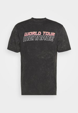 WORLD TOUR - Print T-shirt - black