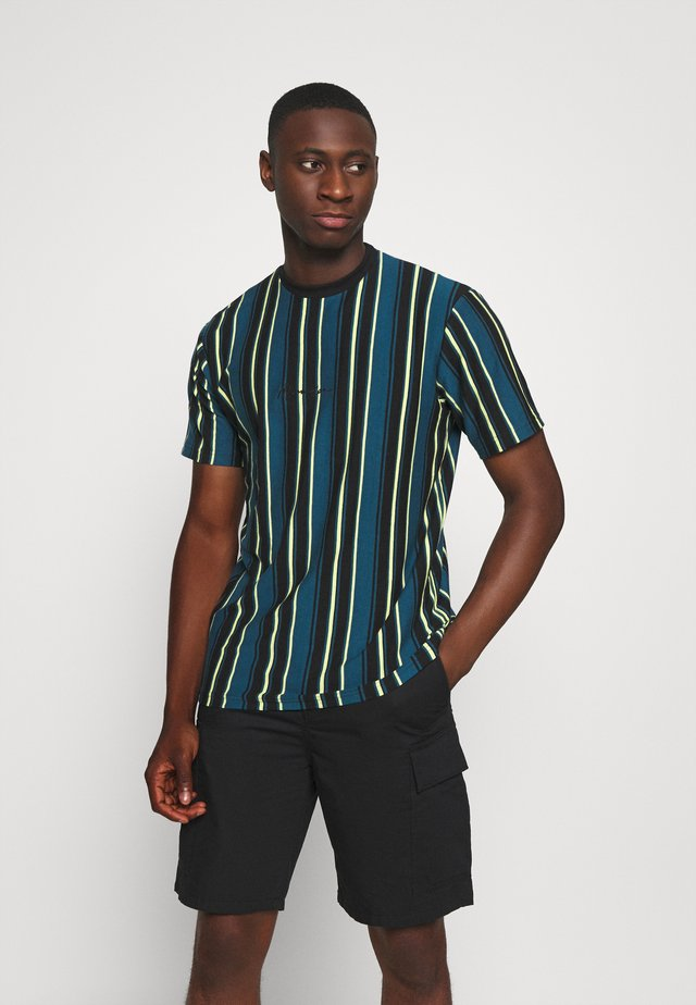 MULTI VERTICAL STRIPE - T-Shirt print - blue