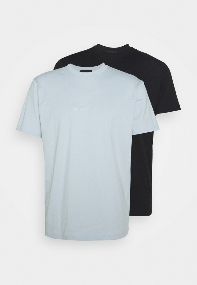 ESSENTIAL SIGNATURE 2 PACK - T-Shirt basic - blue/black