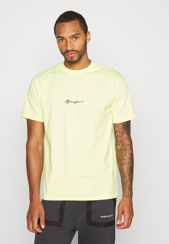 ESSENTIAL SIGNATURE 2 PACK - T-Shirt basic - neon/grey