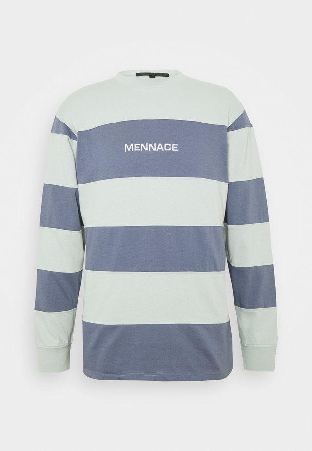 PANELLED STRIPE - Langærmede T-shirts - blue