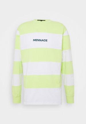 PANELLED STRIPE - Maglietta a manica lunga - lime