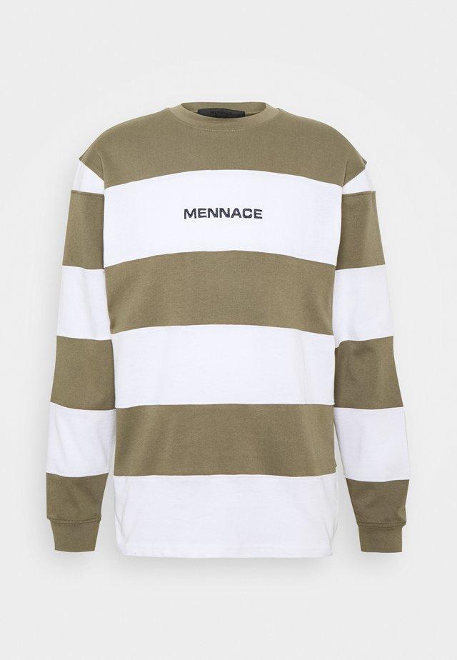 PANELLED STRIPE - Langærmede T-shirts - khaki