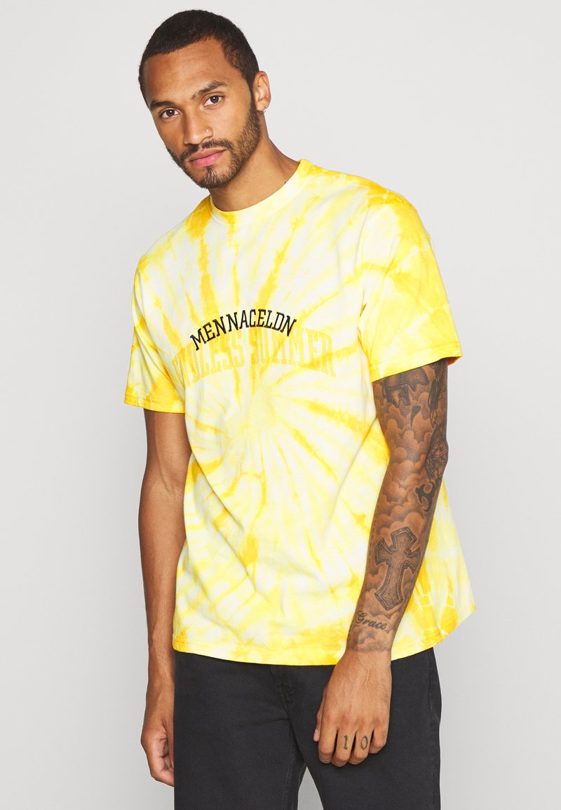 Mennace - ENDLESS SUMMER SWIRL TIE DYE TEE - Print T-shirt - yellow