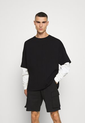 LAYERED TEE - Long sleeved top - black