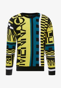 Mennace - ALL OVER DESIGN CREW NECK - Stickad tröja - yellow - 3