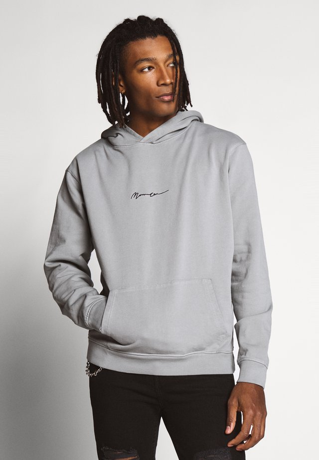ESSENTIAL REGULAR OVERHEAD HOODY WITH SIGNATURE - Huppari - slate grey