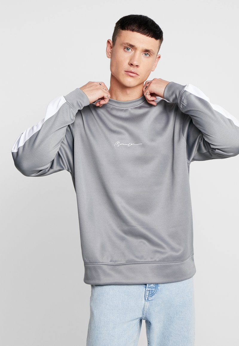 Mennace - TRICOT WITH SIDE STRIPE - Sweatshirt - grey