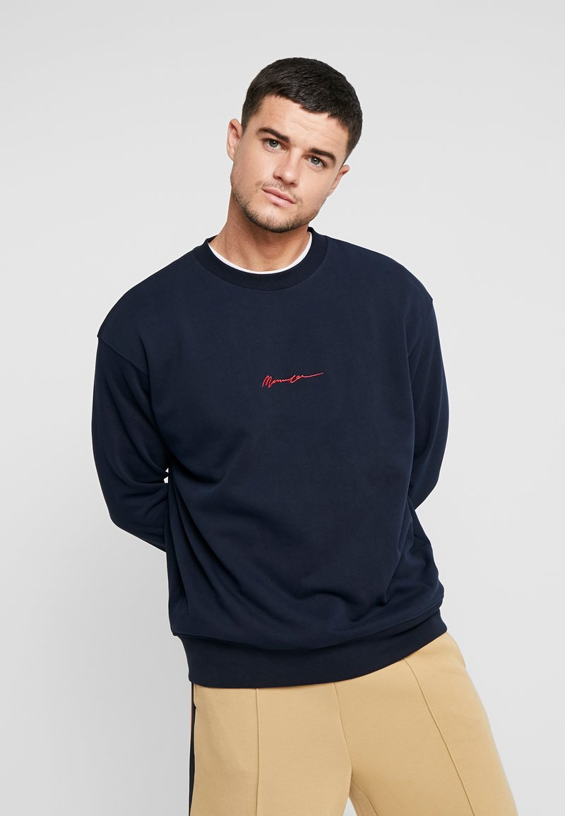Mennace - CONTRAST SIGNATURE - Sweatshirt - navy