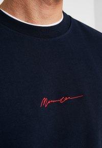 Mennace - CONTRAST SIGNATURE - Mikina - navy - 5