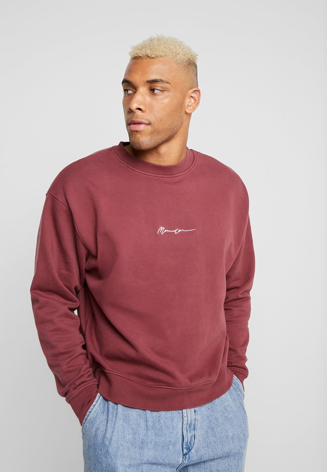 ESSENTIAL BOXY - Collegepaita - burgundy