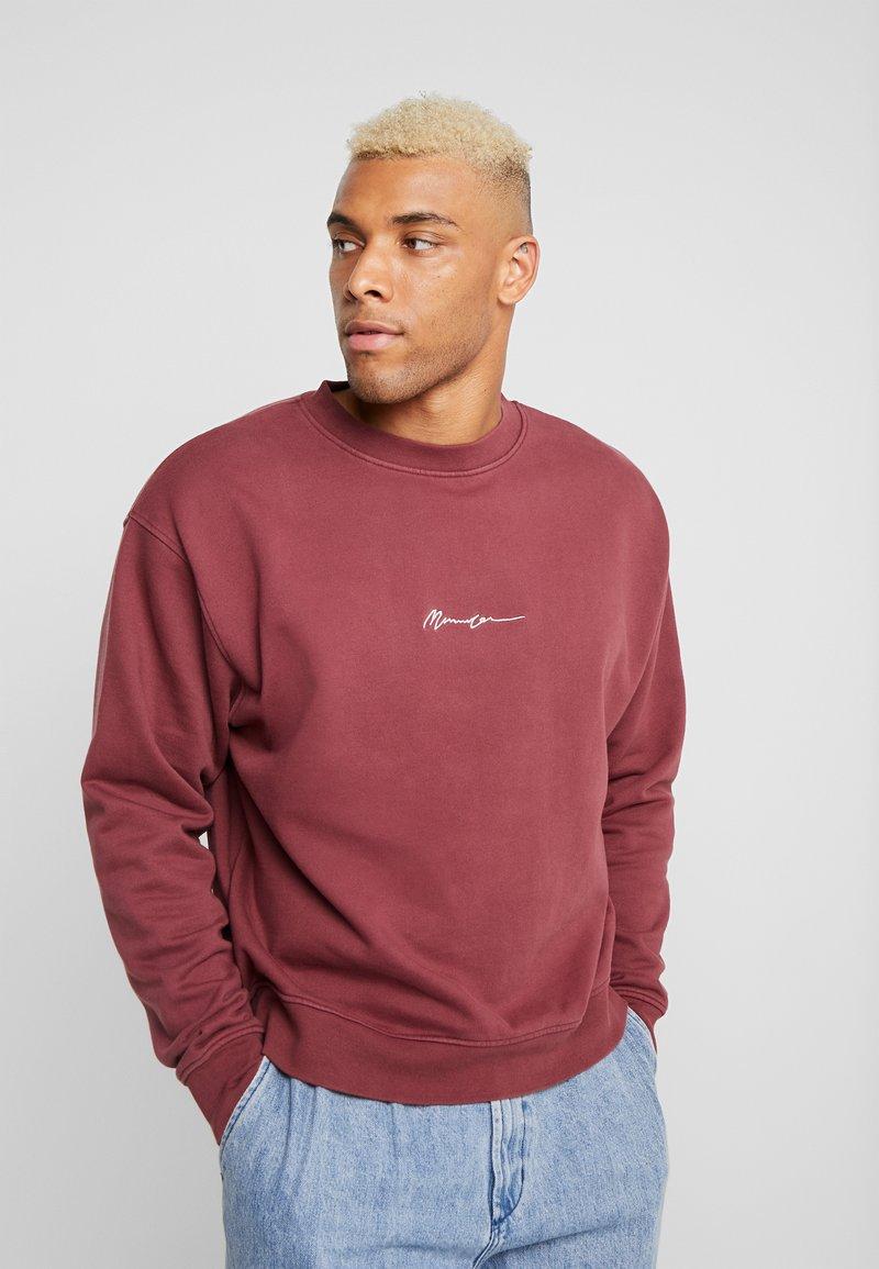 Mennace - ESSENTIAL BOXY - Sweatshirt - burgundy