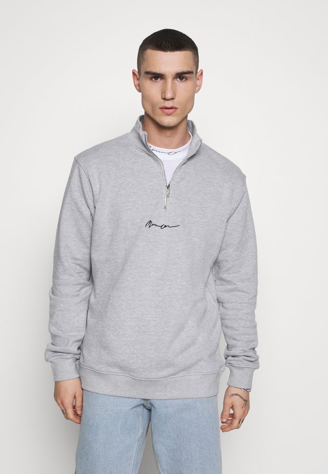 ESSENTIAL ZIP - Collegepaita - grey marl