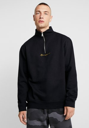 ESSENTIAL ZIP - Sweater - black