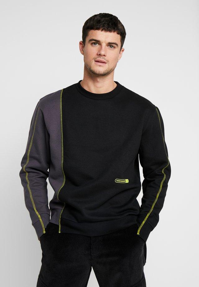 CONTRAST TEXTURE PIPING  - Sweatshirt - black