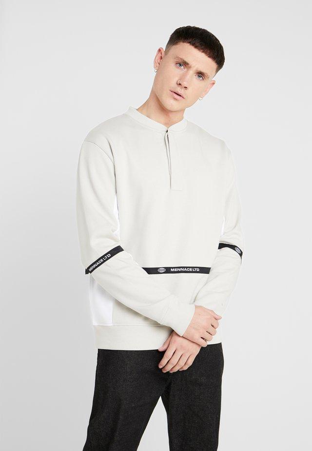 CONTRAST BUTTON - Sweatshirt - grey