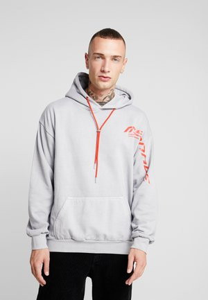 SLANTED FRONT AND BACK PRINT HOODY - Sweat à capuche - ice grey