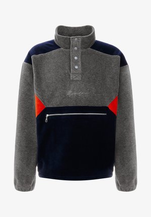 CONTRAST PANEL POLAR FUNNEL NECK SWEATSHIRT - Fleece trui - charcoal