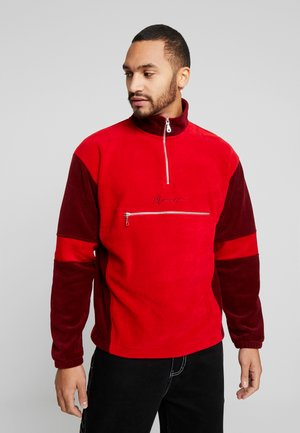 TONAL PANEL POLAR FUNNEL NECK  - Fleece jumper - red