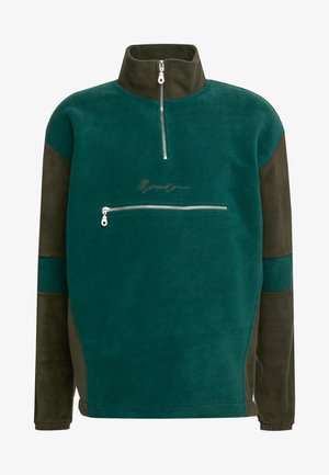 TONAL PANEL POLAR FUNNEL NECK  - Fleece trui - green