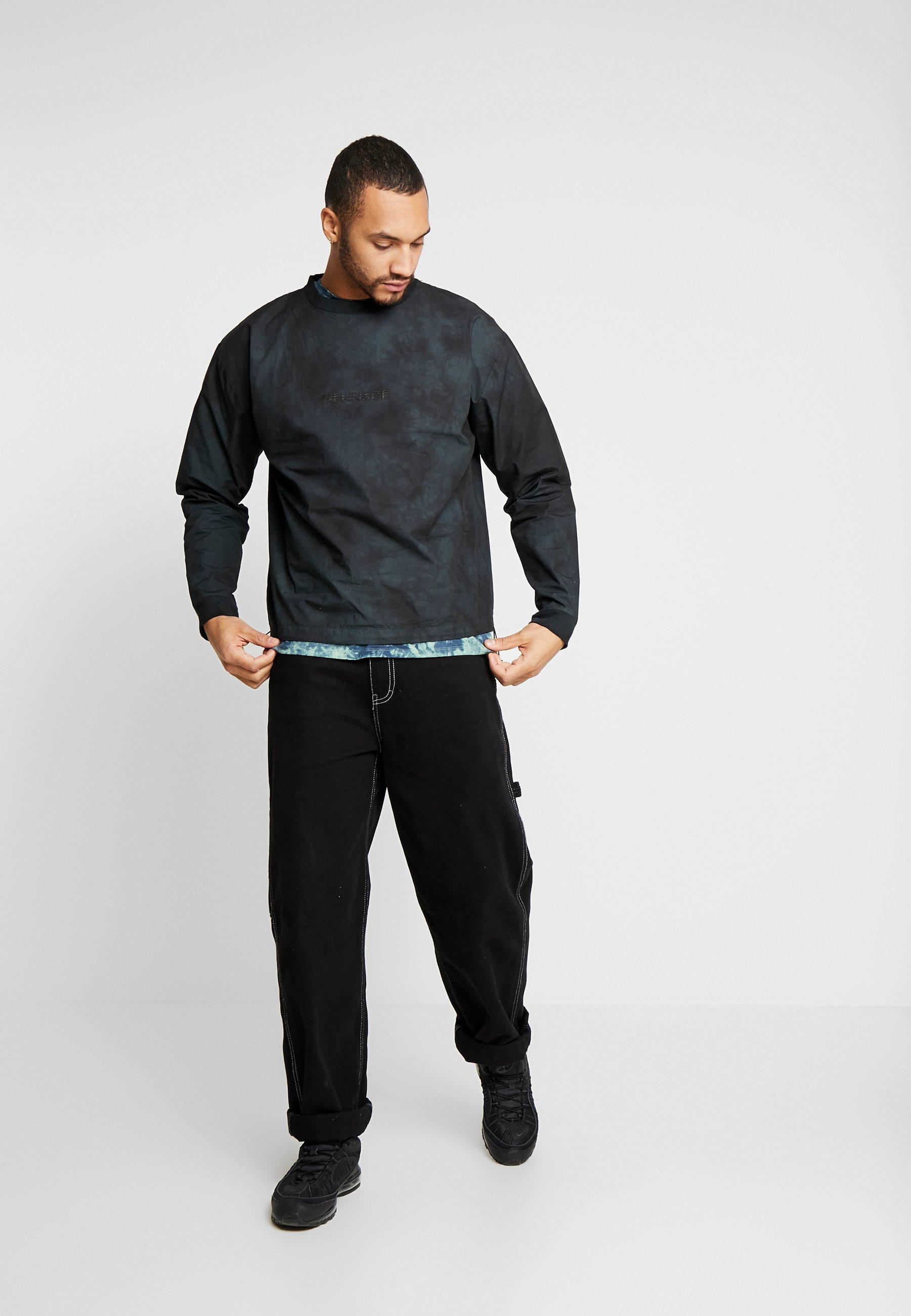 Mennace TIE DYE WITH BRANDING - Sweatshirt - black