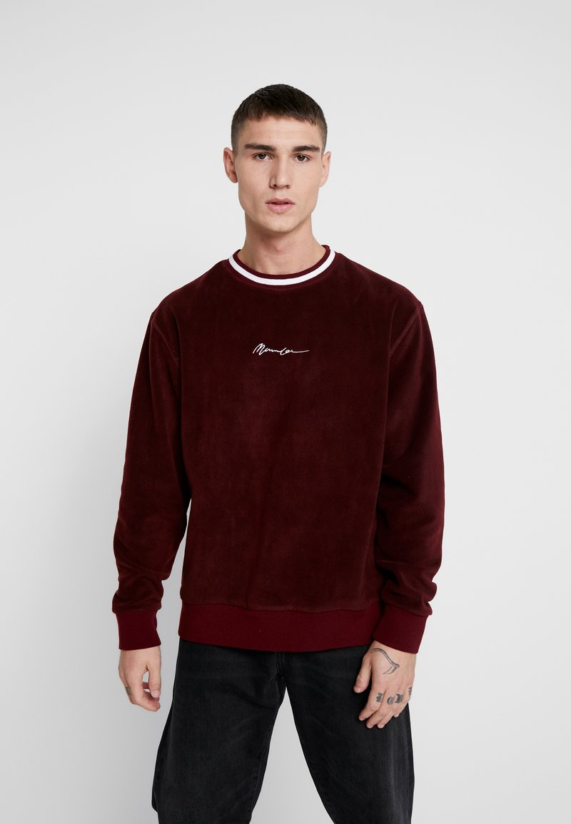 Mennace - POLAR WITH NECK STRIPE - Fleece jumper - burgundy