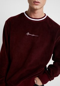 Mennace - POLAR WITH NECK STRIPE - Fleece jumper - burgundy - 4