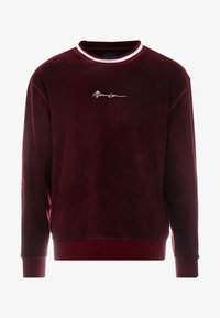 Mennace - POLAR WITH NECK STRIPE - Fleece jumper - burgundy - 3