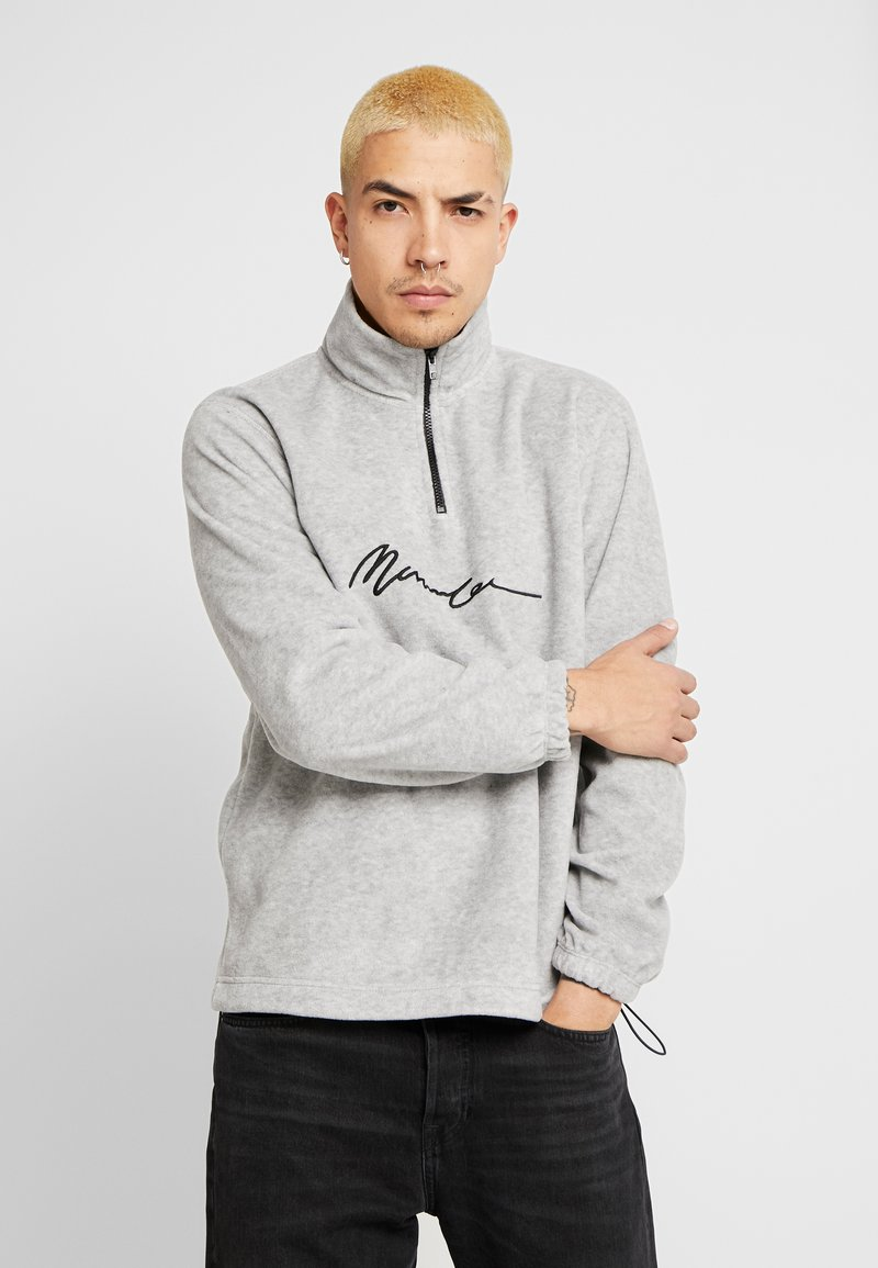 Mennace - POLAR ZIP NECK - Sweat polaire - grey
