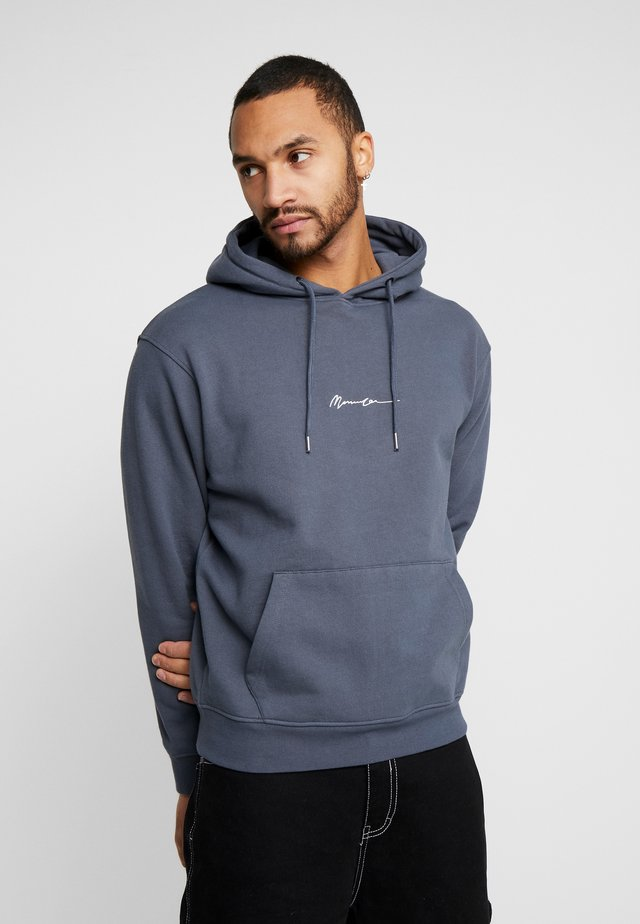ESSENTIAL SIGNATURE REGULAR HOODIE - Hoodie - indigo