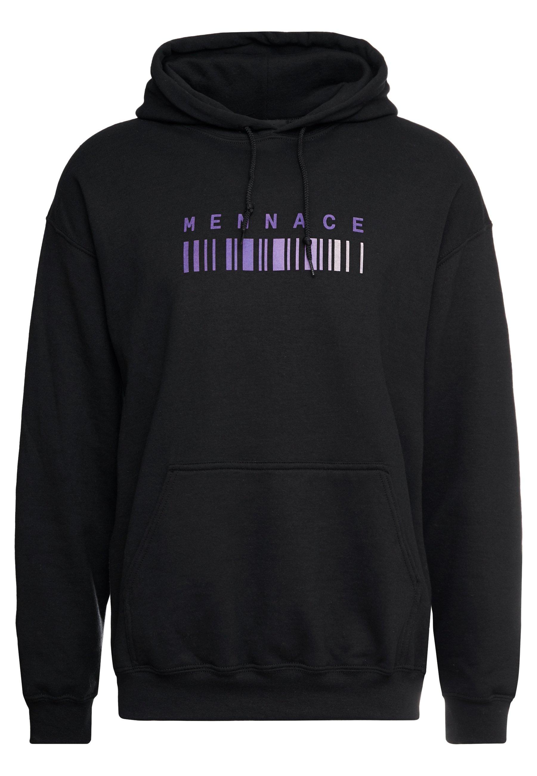 Mennace Barcode Print Hoodie - Felpa Con Cappuccio Black jweGd