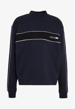 BRANDED FUNNEL NECK PANEL  - Sweater - navy