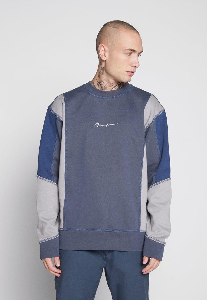 Mennace - UNISEX OVERLOCK PANEL - Sweater - grey