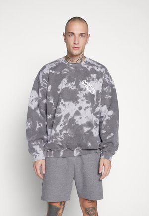 ROTATION BACK TIE DYE - Felpa - washed black