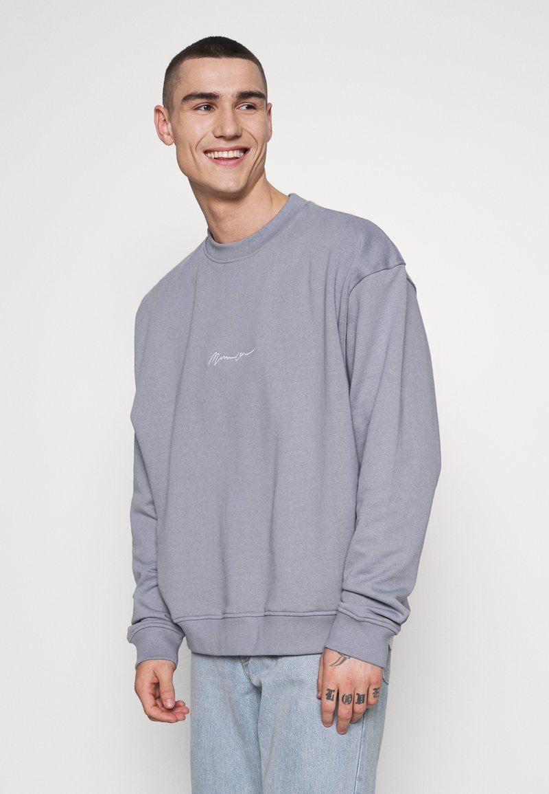Mennace - ESSENTIAL SIGNATURE BOXY - Sweatshirts - powder blue