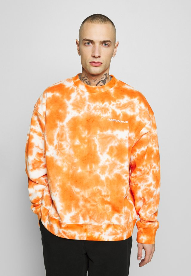 ALL OVER TIE DYE - Sweatshirt - orange