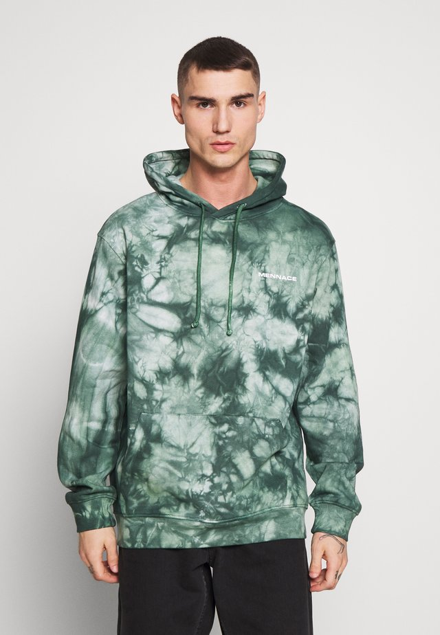 ALL OVER TIE DYE HOODIE - Luvtröja - green